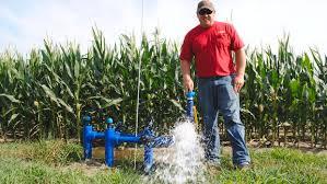 irrigated corn going underground in corn country park rapids enterprise