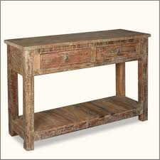 Storage Console Table by Furniture Old Age Rustic Console Table With Underneath Storage