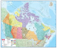 Large World Map Poster by Amazon Com Canada Laminated Wall Map Map Of Canada Office