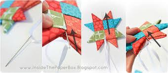 inside the paper box ornament tutorial
