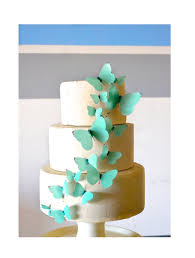 wedding cake edible decorations wedding cake topper edible butterflies blue set of 15