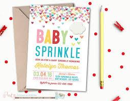 baby sprinkle invitations baby sprinkle invitation rainbow baby shower invitation hearts