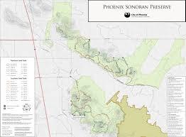 Map Phoenix Area by Sonoran Preserve North Area U2022 Hiking U2022 Arizona U2022 Hikearizona Com