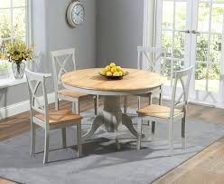 Painted Oak Dining Table And Chairs Round Dining Table 4 Chairs Painted Oak Grey Round Dining Table 4