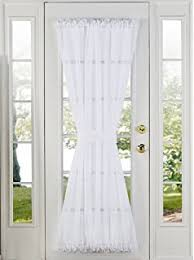 Top And Bottom Rod Curtains Amazon Com Sheer Voile 72 Inch French Door Curtain Panel White