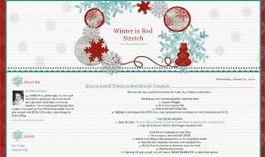 winter in red stretch free blog template blog backgrounds