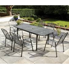 6 Seat Patio Table And Chairs Buy A Mir Royalcraft Royal Garden Savoy 6 Seater Extending Patio Set