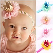 lace headwear infant baby crown headband princess crown hair band pearl tiara