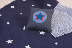 Stars Duvet Cover Blue Duvet Cover With Stars Modern Embroidered Microfiber Floral