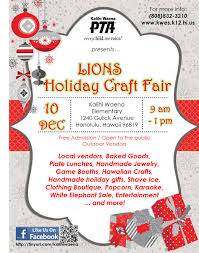 pta lions holiday craft fair kalihi waena