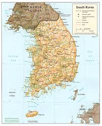 Map Of South Asia by Maps Of South Korea Map Library Maps Of The World