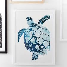 Sea Turtle Home Decor Tropical Sea Turtle Wall Art By Minted Pbteen