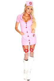pink nurse costume