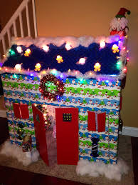 cardboard house did this for the kids for a fun christmas craft