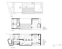 floor plans courtyard house aileen sage architects archdaily