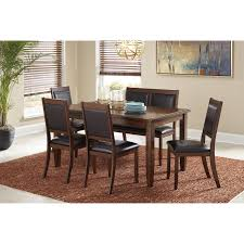 6 piece dining room table set with bench by signature design by