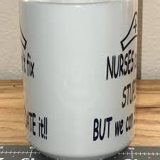 nurse mug nurses coffee mug tea mug white funny mug gift