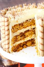 pumpkin tiramisu layer cake and sugar