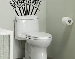 toilet decal etsy