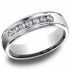 mens wedding rings white gold benchmark 14kt white gold mens diamond wedding ring