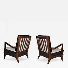 gio ponti gio ponti pair of gio ponti walnut lounge chairs model 516