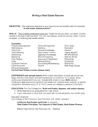 Real Estate Resume Templates Format For Resume Writing