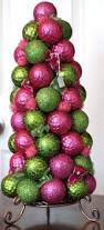 pink and green ornament topiary christmas decor crafts u0026 ideas