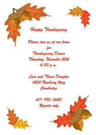 acorn border thanksgiving invitations 5377cs tg
