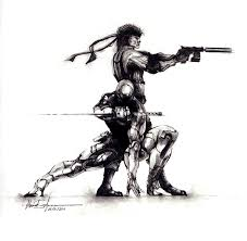grey fox and solid snake by ahmed id on deviantart