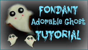 how to make a adorable fondant ghost youtube