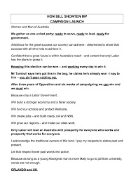 Be Like Bill Here S - read along with bill shorten here is his caign speech before he