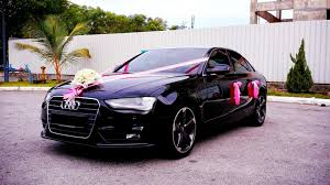 pink audi redorca malaysia wedding and event car rental audi a4 wedding car