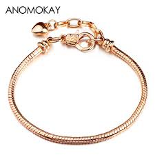 silver plated snake chain bracelet images Online shop anomokay 2018 hot silver plated basic snake chain jpg