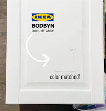how to color match cabinets a paint color match to ikea bodbyn white cabinet