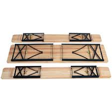 Folding Table And Bench Set Goplus Op2837 3 Pcs Beer Table Bench Set Folding Wooden Top Picnic