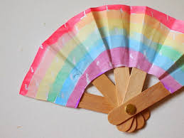 fan sticks make a folding popsicle stick fan pink stripey socks