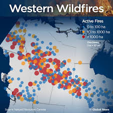 Wildfire Map National by Incredible Images Of Fires Raging Across Western Canada