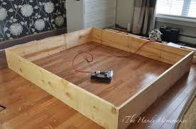 how to build a king size bed frame with drawers home design ideas