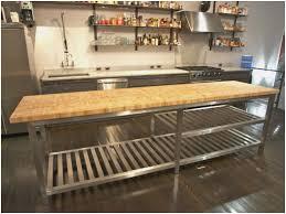 kitchen island steel stainless steel kitchen island with butcher block top