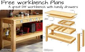 Woodworking Bench Top Plans by Build This Simple Workbench With Drawers Woodwork City Free
