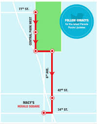 macy s thanksgiving day parade 2016 route map 2016 macy s