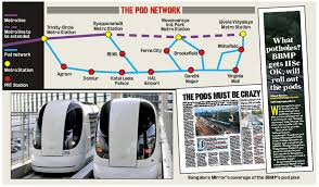 taxi pods may come to bengaluru faster than bbmp can fix the