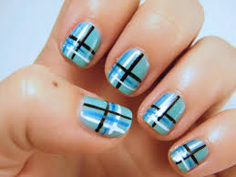 top 10 striped nail designs 15 gray and purple striped nail art