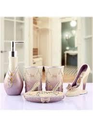 Lavender Bathroom Accessories by Fancy Creative Sea World Pattern 5 Piece Bathroom Accessories