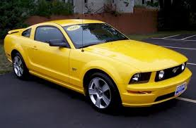 Yellow Mustang With Black Stripes 2006 Gt Options Package