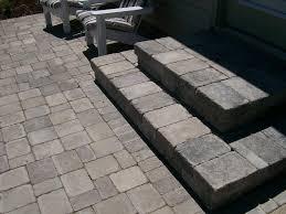 Patio Designs Using Pavers by Exterior Casual Outdoor Flooring Design Using Grey Paver Patio