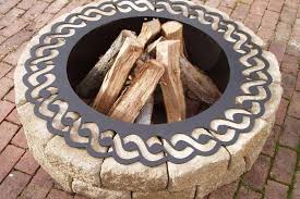 Firepit Rings Outdoor Pit Ring Insert Fireplace Design Ideas For The