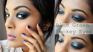 pea blue green smokey eyes makeup tutorial beyonce mine video inspired you