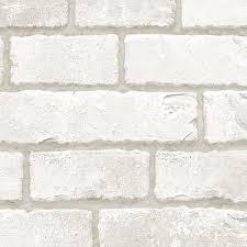 5 meter self adhesive real white brick wall pattern peel stick