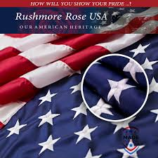 Embroidered American Flag Rushmore Rose Usa Launches New American Flag To Celebrate